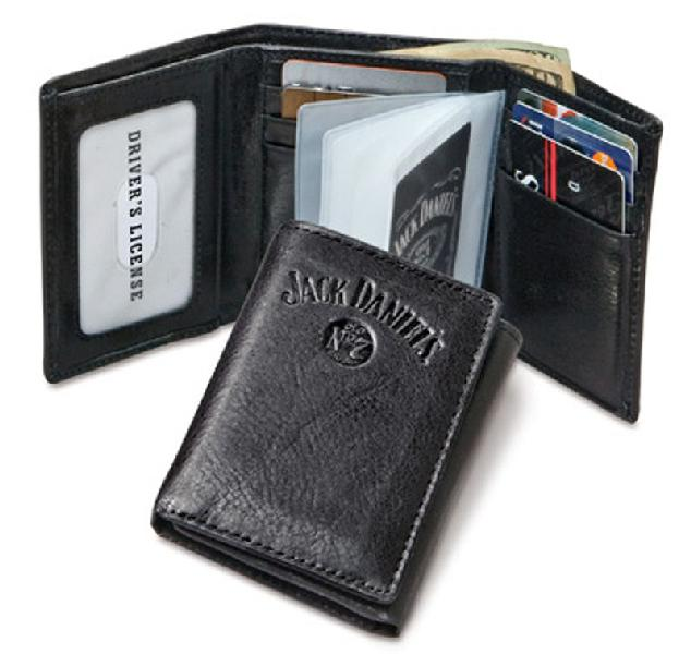 Black Trifold Wallet, Signature Collection